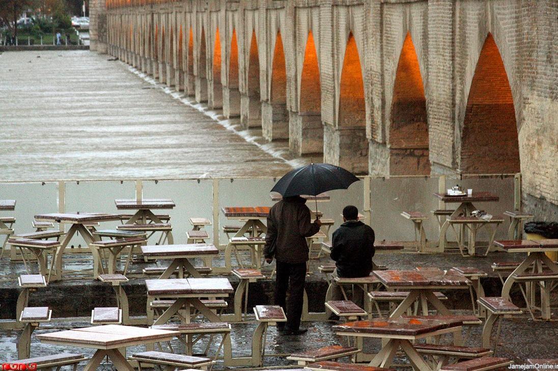 عکس باران پاييزى