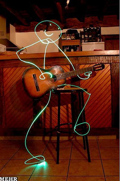عکس نقاشی طراحی گیتار