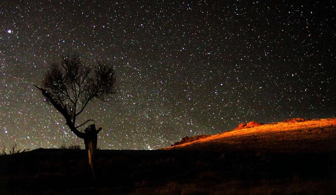 عکس شب پر ستاره
