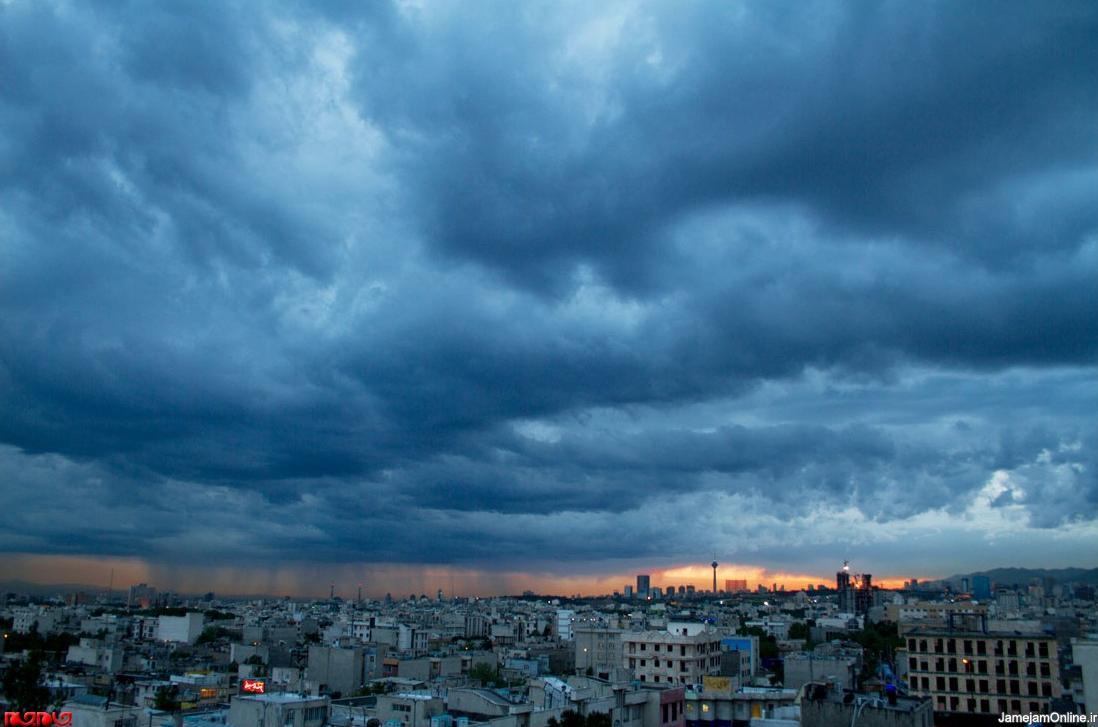عکس / آسمان بهاری تهران