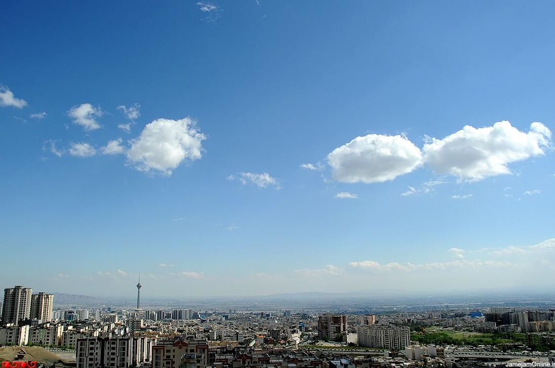 عکس / آسمان بطور استثایی آبی تهران